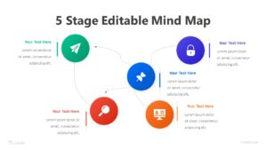 5 Stage Editable Mind Map Infographic Template