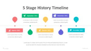 5 Stage History Timeline Infographic Template