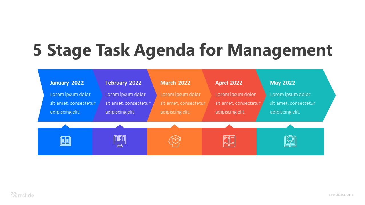 5 Stage Task Agenda for Management Infographic Template