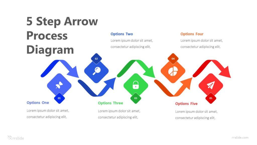 5 Step Arrow Process Diagram Infographic Template