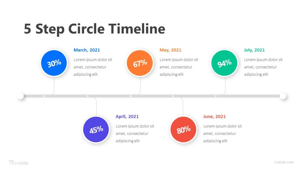 5 Step Circle Timeline Infographic Template