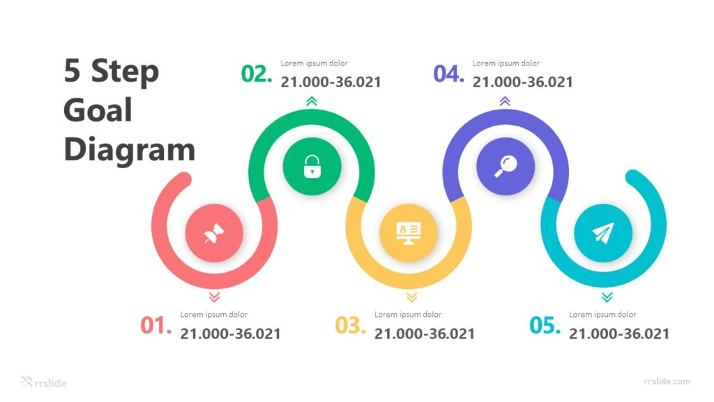 5 Step Goal Diagram Infographic Template
