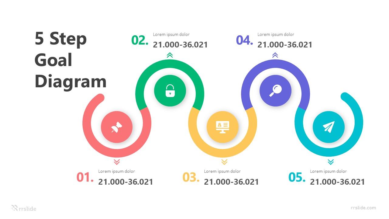 5 Step Goal Diagram Infograpic Template