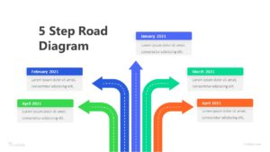 5 Step Road Diagram Infographic Template