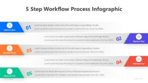 5 Step Workflow Process Infographic Template