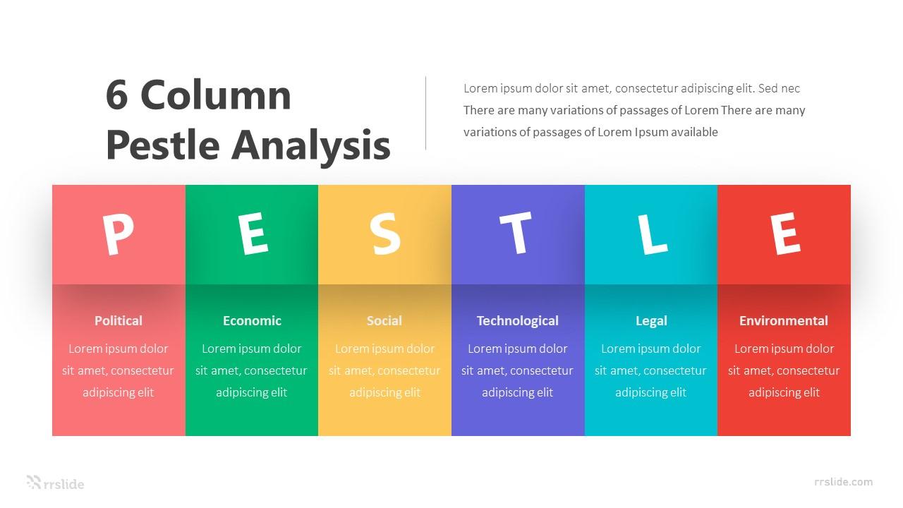 6 Column Pestle Analysis Infographic Template