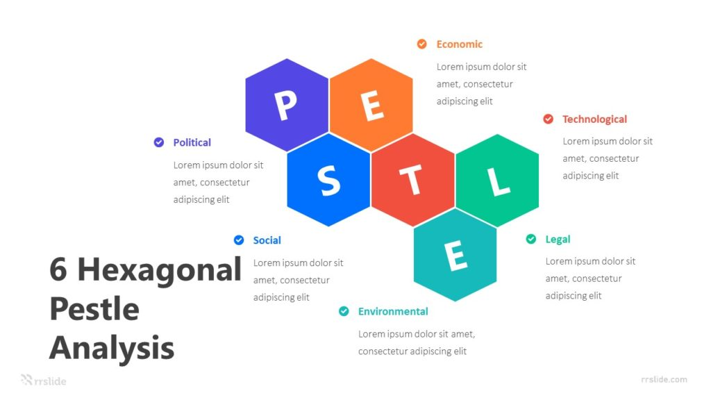 6 Hexagonal Pestle Analysis Infographic Template