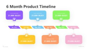 6 Month Product Timeline Infographic Template