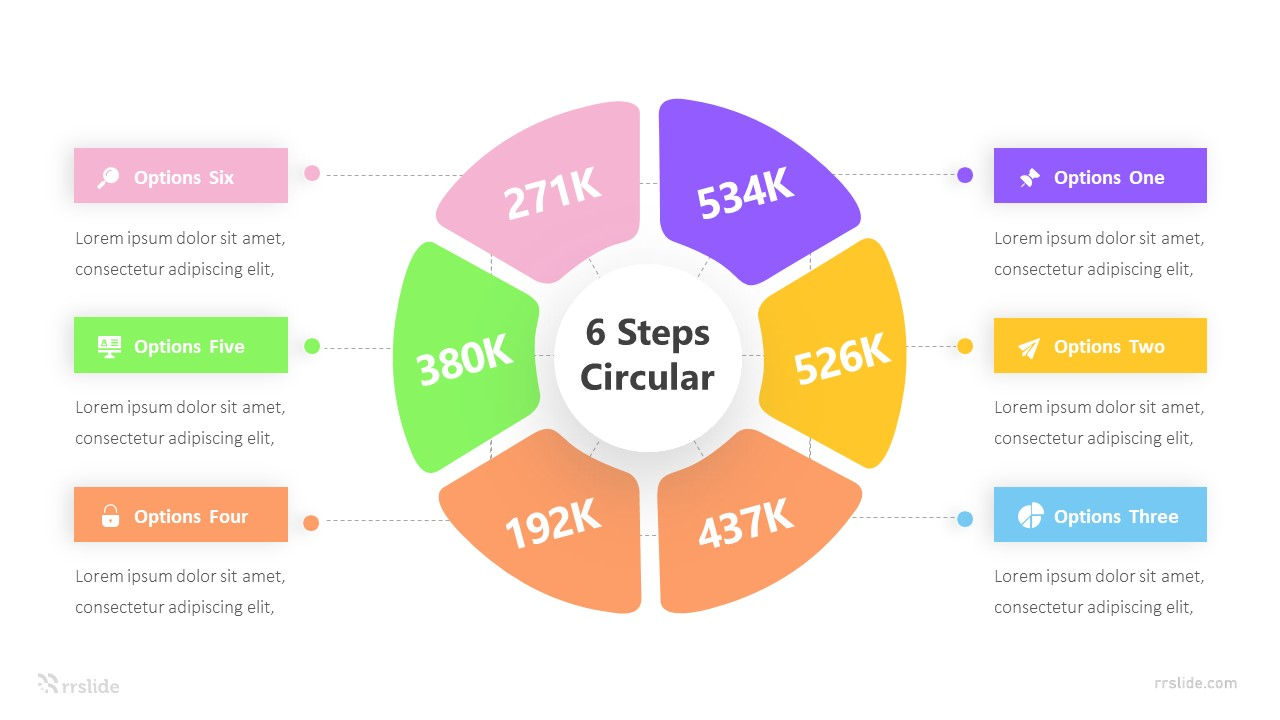 6 Options Circular Framework Infograpic Template