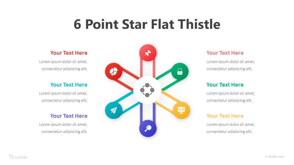6 Point Star Flat Thistle Infographic Template