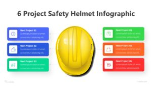 6 Project Safety Helmet Infographic Template