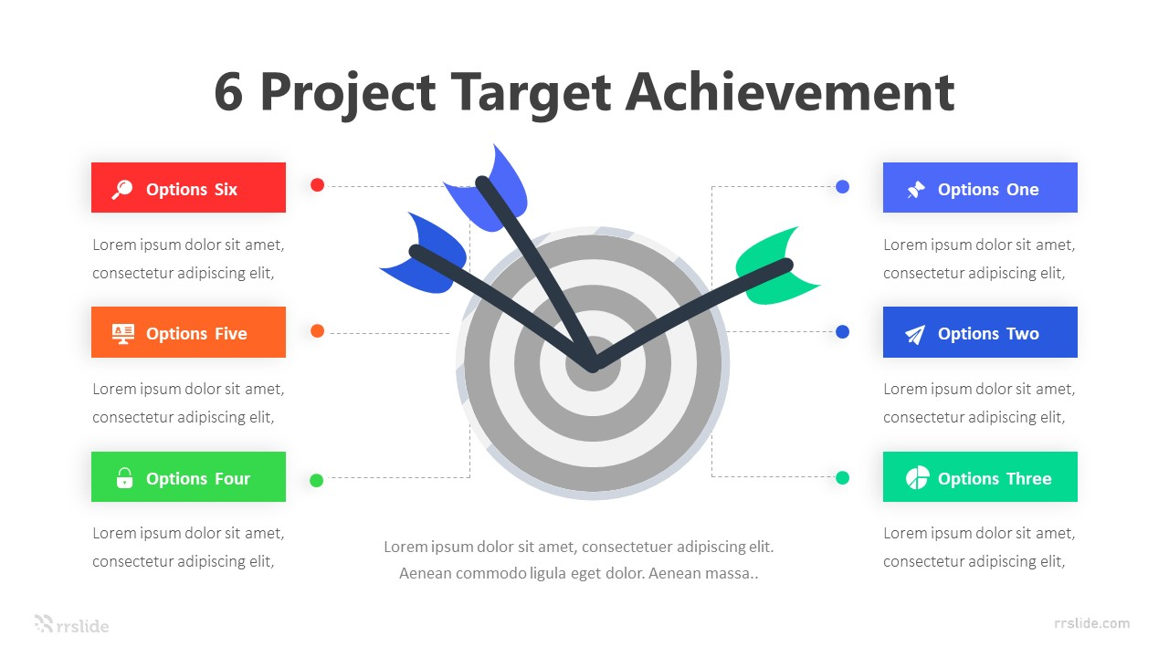 6 Project Target Achievement Infographic Template
