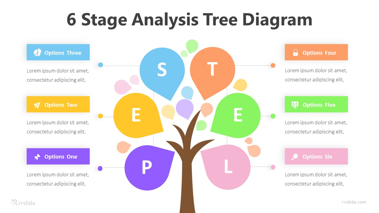 6 Stage Analysis Tree Diagram Infographic Template
