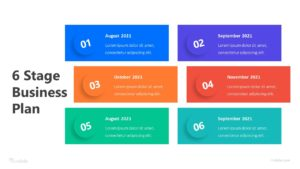 6 Stage Business Plan Infographic Template