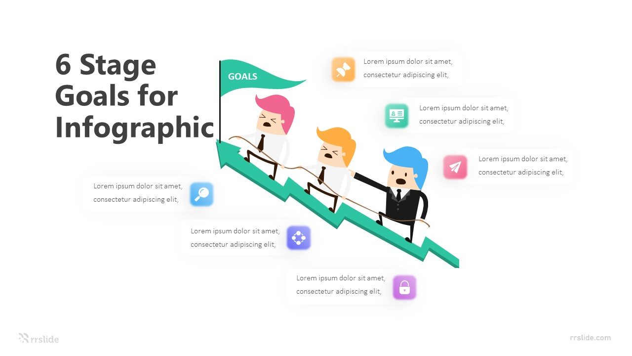 6 Stage Goals For Infographic Template