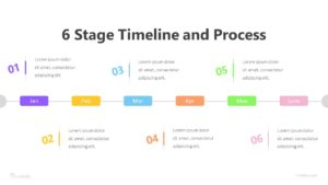 6 Stage Timeline And Process Infographic Template