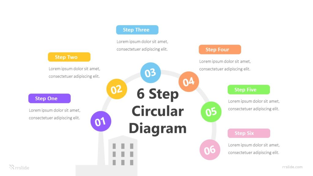 6 Step Circular Diagram Infographic Template