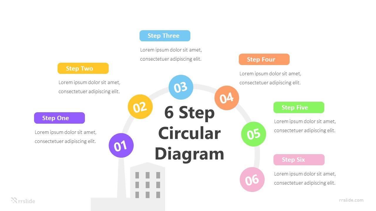 6 Step Circular Diagram Infografic Template