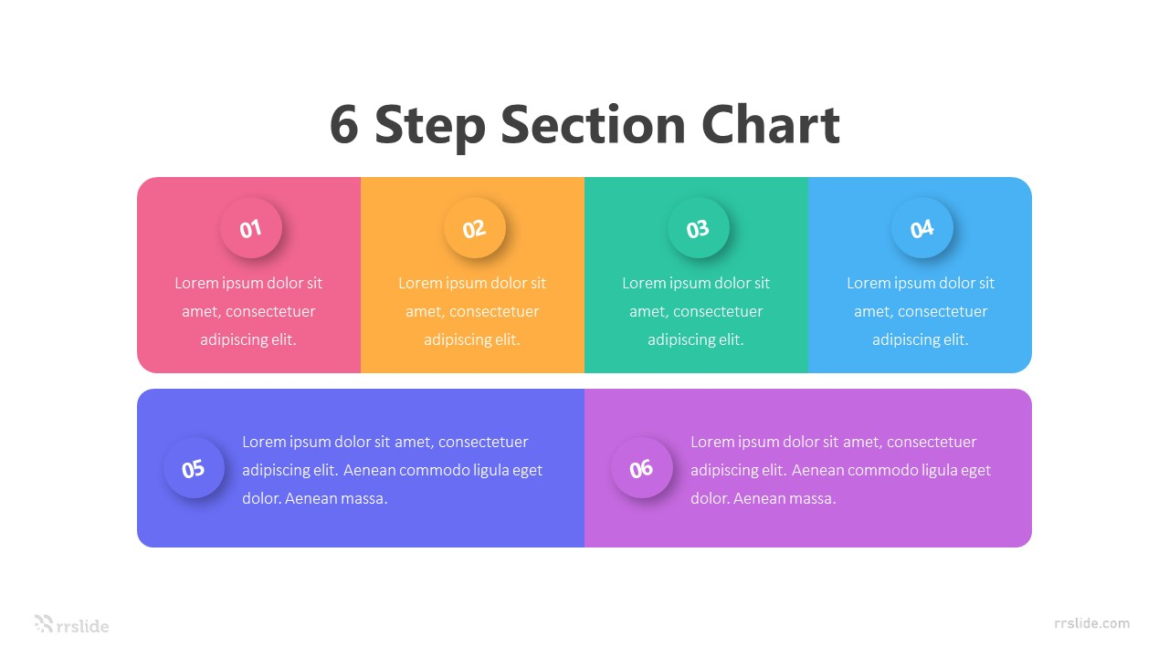 6 Step Section Chart Infographic Template