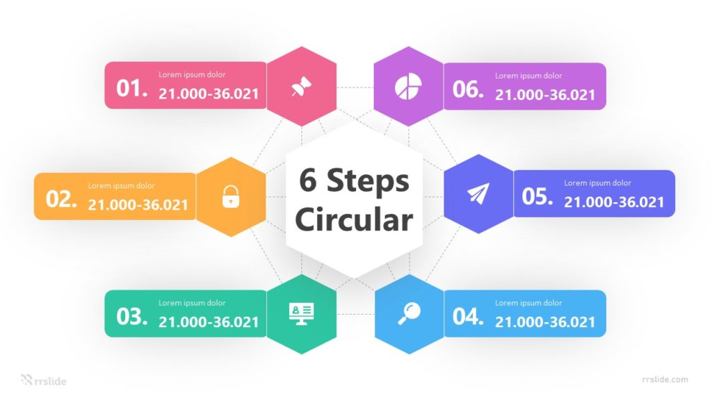 6 Steps Circular Framework Infographic Template