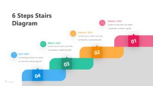 6 Steps Stairs Diagram Infographic Template