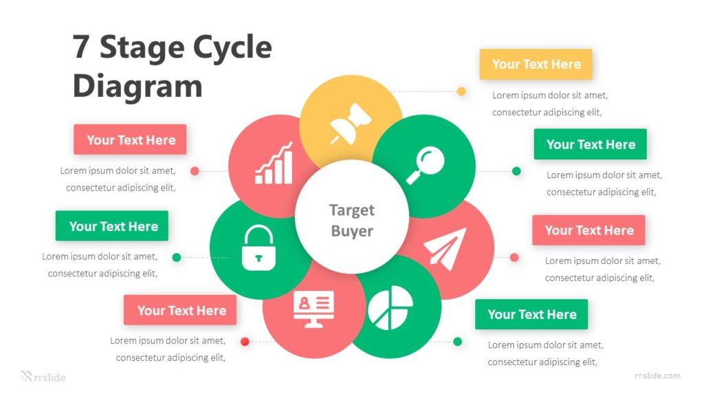 7 Stage Cycle Diagram Infographic Template