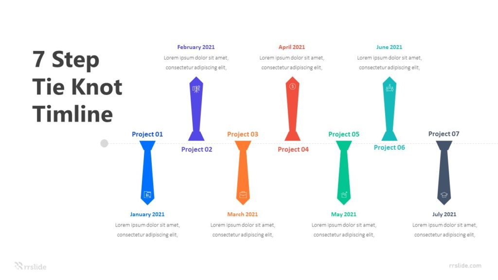 7 Tie Knot Timeline Infographic Template