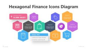 8 Hexagonal Finance Icons Diagram Infographic Template
