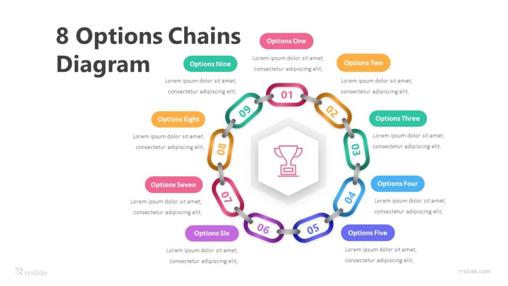 8 Options Chains Diagram Infographic Template