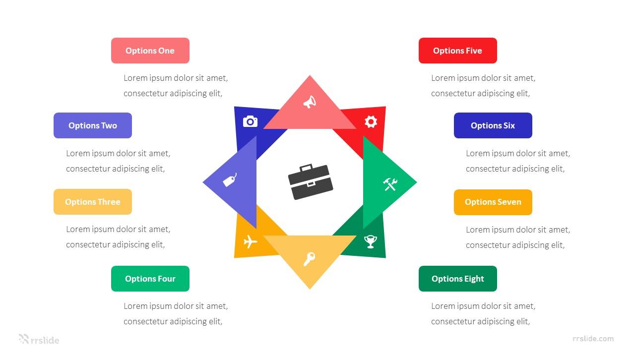 8 Options Segment Star Diagram Infographic Template