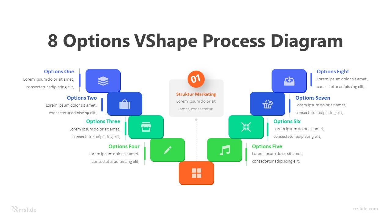 8 Options VShape Process Diagram Infograpik Template