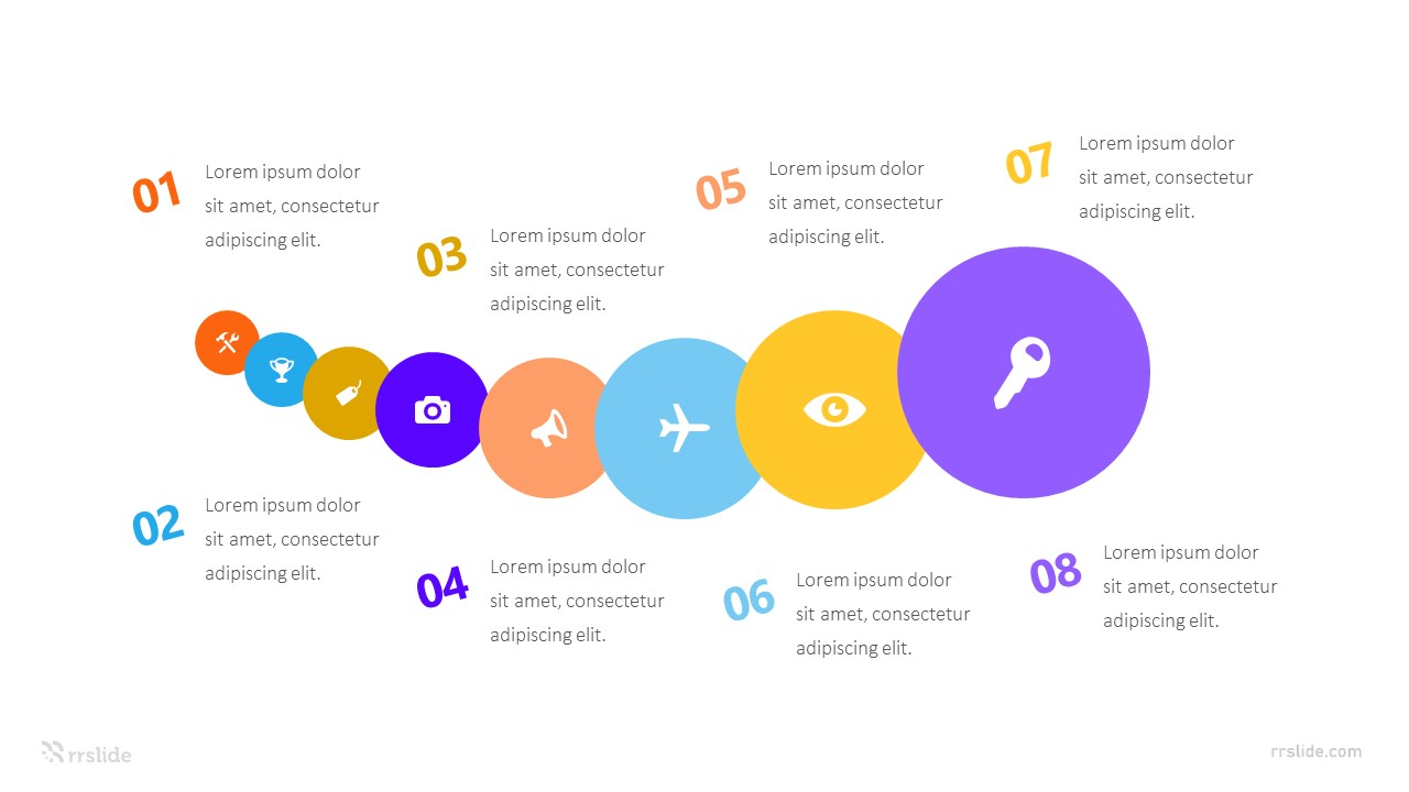 8 Stage Circle Creative Infographic Template
