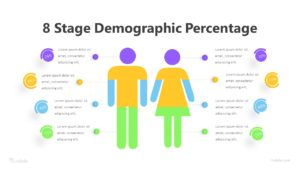 8 Stage Demographic Percentage Infographic Template