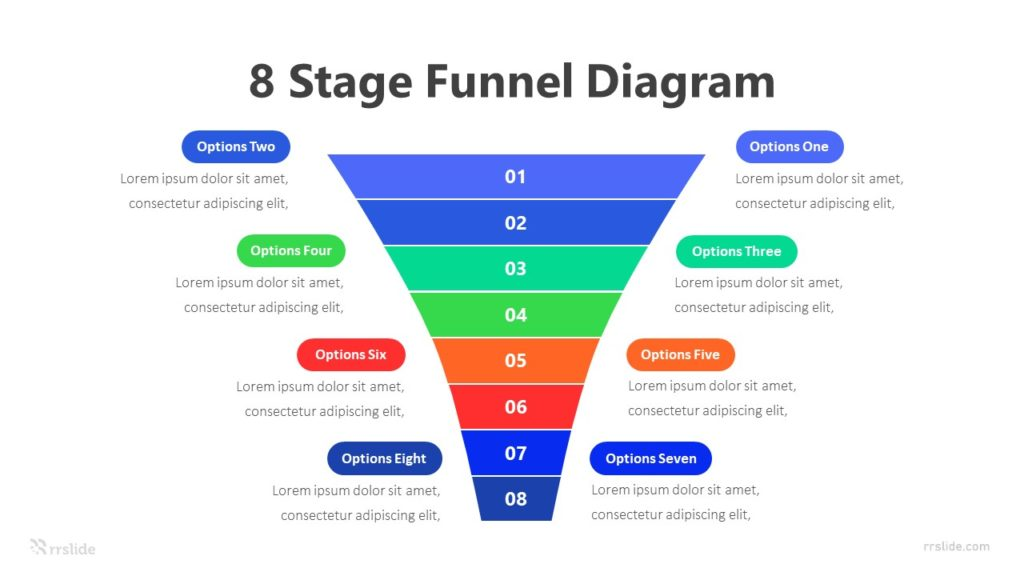 8 Stage Funnel Diagram Infographic Template