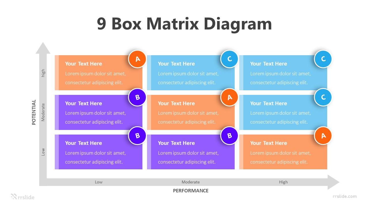 9 Box Matrix Diagram Infographic Template