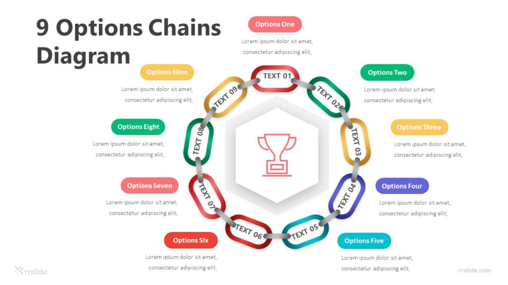 9 Options Chains Diagram Infographic Template