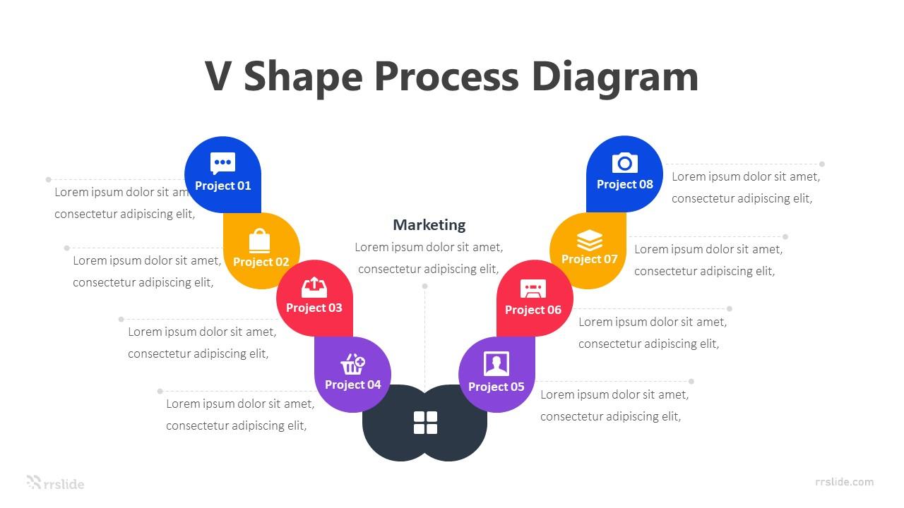 8 V Shape Process-Diagram Infographic Template