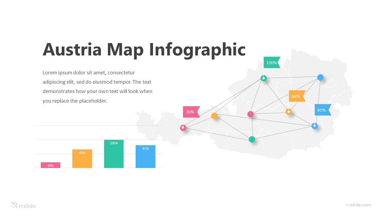 Austria Map Infographic Template