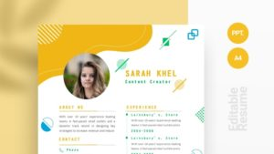 Abstract Memphis Elements Curriculum Vitae Template