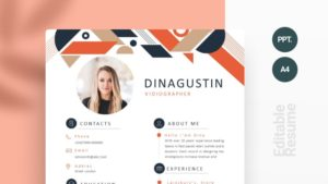 Colorful Abstract Geometric Curriculum Vitae Template
