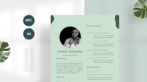 Dark Green Modern Curriculum Vitae Template