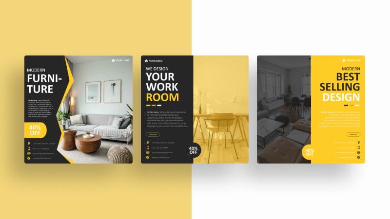 Furniture Room Social Media Template