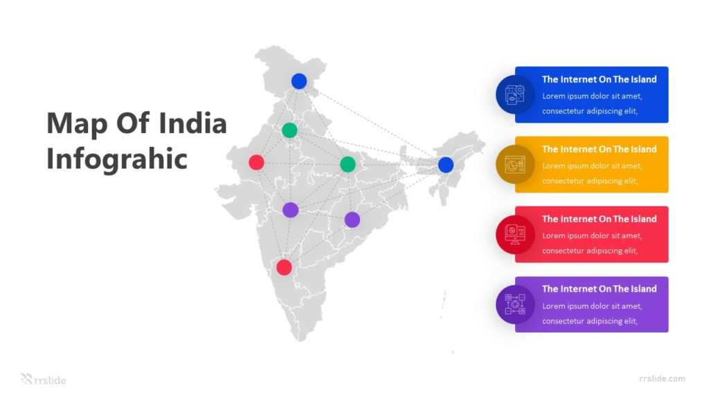 Indian Map Infographic Template