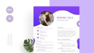 Light Purple CV Template