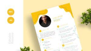Minimalist Summer Organic Curriculum Vitae Template