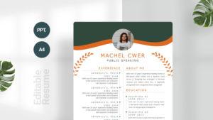 Business Green CV Template