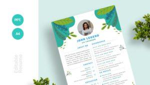 Modern Fresh Forest Theme Curriculum Vitae Template