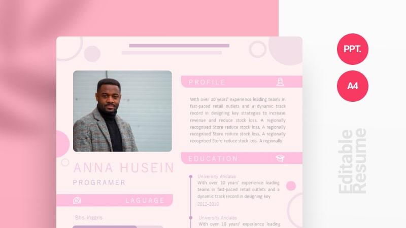 Soft Color CV Template