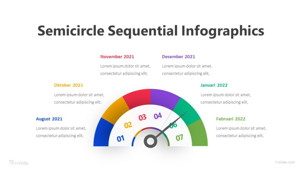 Semicircle Sequential Infographics Template