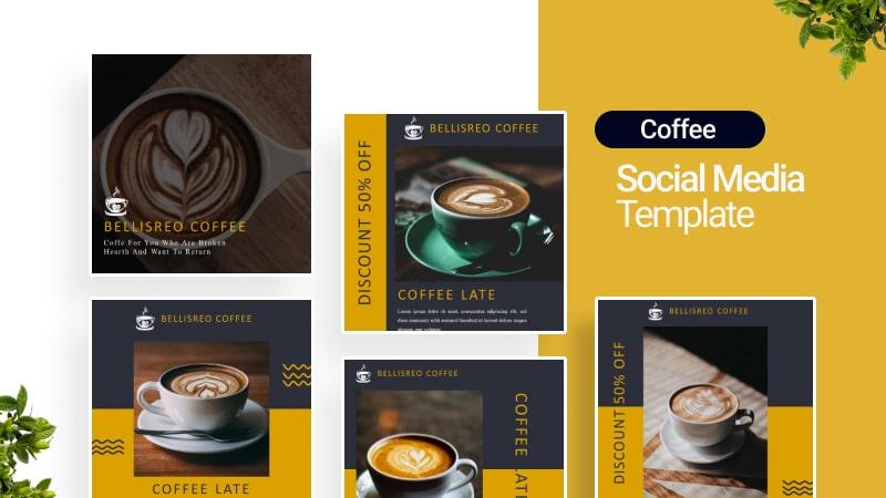 Bellisreo Coffe Social Media Template